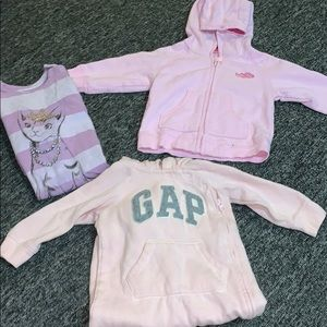Baby Gap Pink Purple 6-12 Hoodie One Piece Outfits